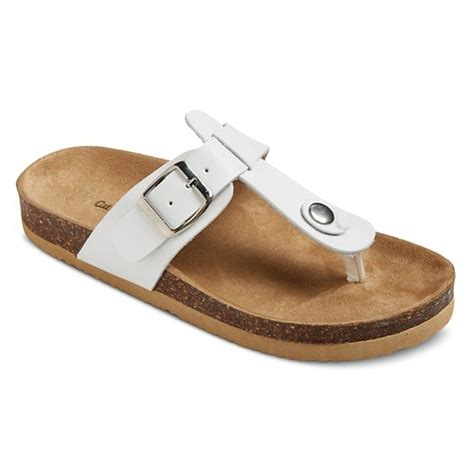 target white sandals norin footbed sandals cat white target
