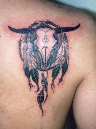 buffalo skull tattoo buffalo skull