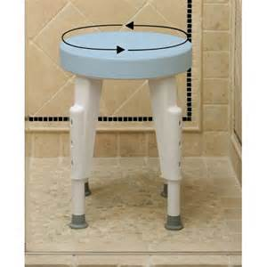 rotating shower stool height adjustable swivel seat