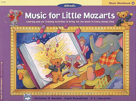 For Mozarts Lesson Book 4 for mozarts workbook book 4 sheet by christine h barden sku ap