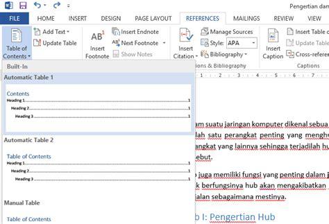 Jelaskan Tahap Tahap Membuat Daftar Isi | cara membuat daftar isi otomatis di word untuk pemula 100