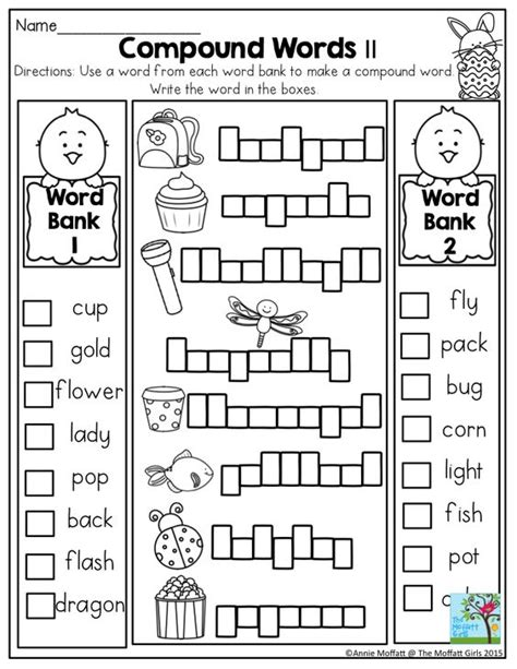 printable compound word games for second grade free worksheets 187 1st grade fun worksheets free math