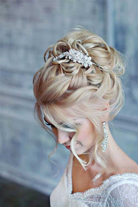 bridal hairstyles messy bun 25 hair styles for brides long hairstyles 2016 2017