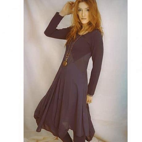blauwe jurk katoen katoen jurk