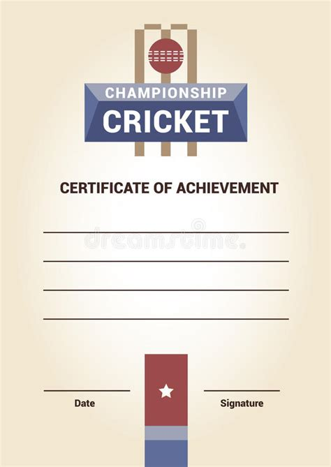 cricket certificate templates cricket certificate templates free image