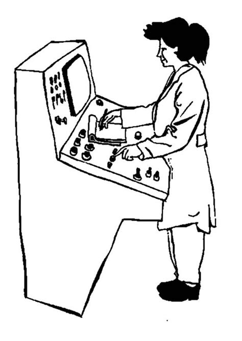 Coloring Page machine operator - free printable coloring pages