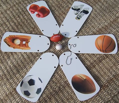 sports themed ceiling fans positive spin sports theme ceiling fan
