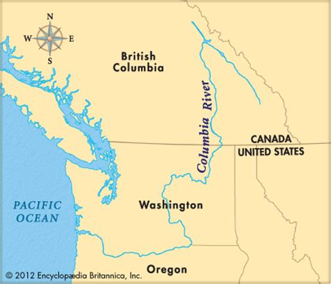columbia river map columbia river encyclopedia children s homework help dictionary britannica