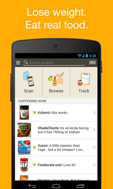 weight watchers android app fooducate healthy weight loss android app review