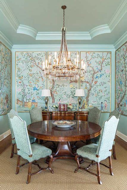chinoiserie dining room chinoiserie panels the potted boxwood