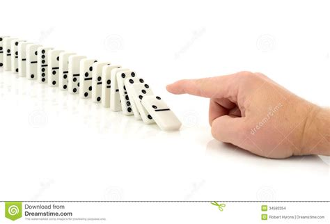 chain reaction we try the new domino s handmade pan pizza domino fall stock photo image of leadership isolated