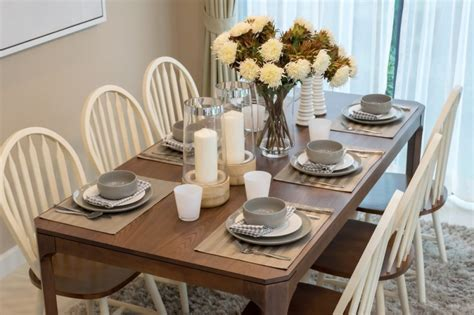 dining room table settings table setting ideas modern wedding round table settings