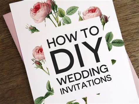 how to diy wedding invitations - Diy Wedding Invitations Printing