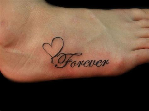 forever and always tattoo designs forever and always tattoos forever foot by