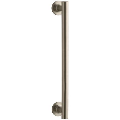 Shower Door Pull Handle Shop Kohler 14 In Brass Hinged Shower Door Handle At Lowes