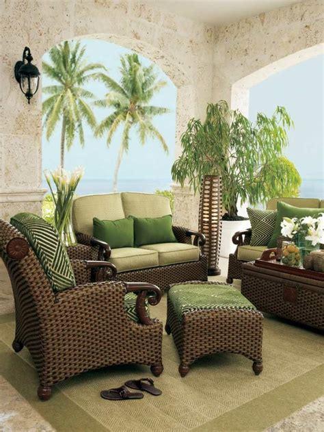 muebles de rattan marron  verde muebles de ratan