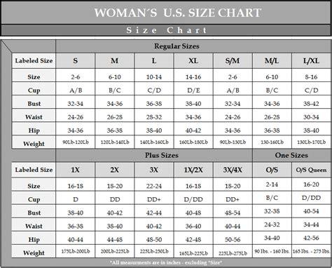 escant 233 size chart