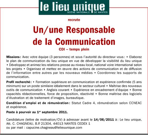 Lettre De Motivation école Communication Service Communication Lettre Motivation Service