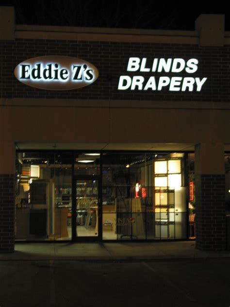 eddiez blinds and drapery the signage of negative space eddie z s blinds and drapery