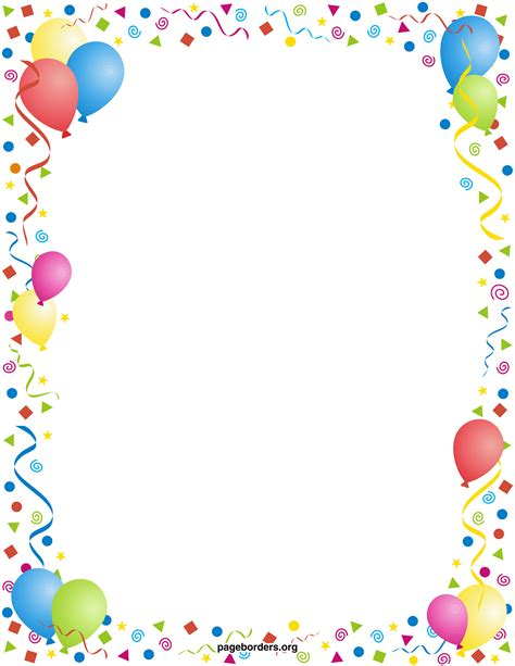 Best Birthday Border 911 Clipartion Com Free Printable Birthday Borders And Frames