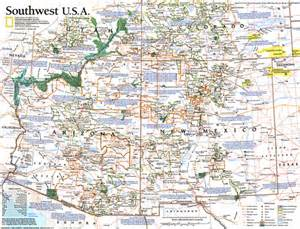 southwest usa map