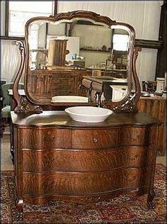 antique bathroom vanity empire style american antique
