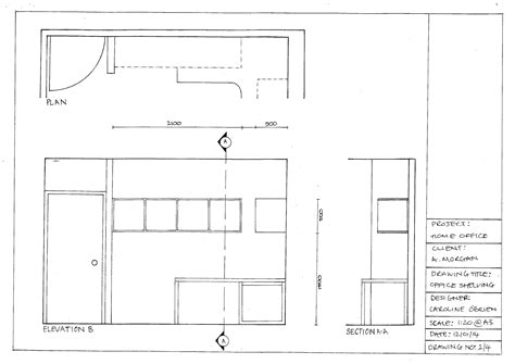 section elevation drawing interior design design drawing part 2 co b by design