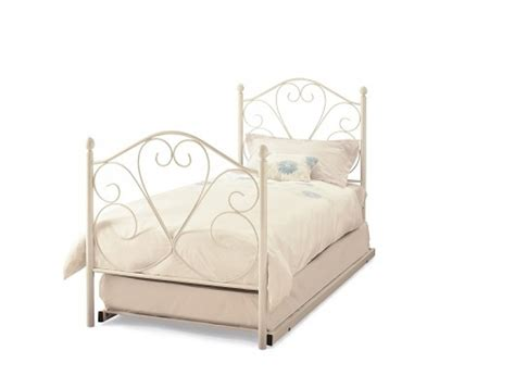 Serene Isabelle 3ft Single White Gloss Metal Guest Bed White Single Metal Bed Frame