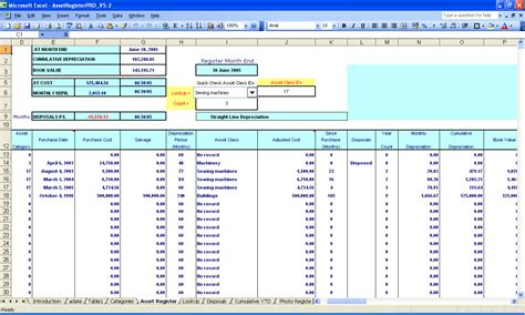 Asset Register Form Template Excel Asset Inventory Template