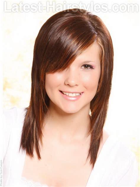 cute haircuts bangs layers cute layered haircuts with side bangs