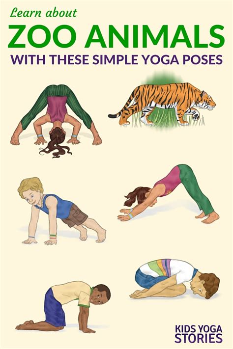 you are a and other poses books 5 zoo poses for printable poster