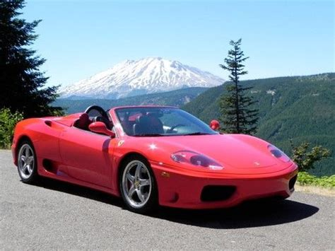 classic ferrari 360 spider 6 speed manual 2 owners 22 0 for sale classic sports car ref purchase used ferrari 360 spider 6 speed manual 2005 in mercer island washington united states