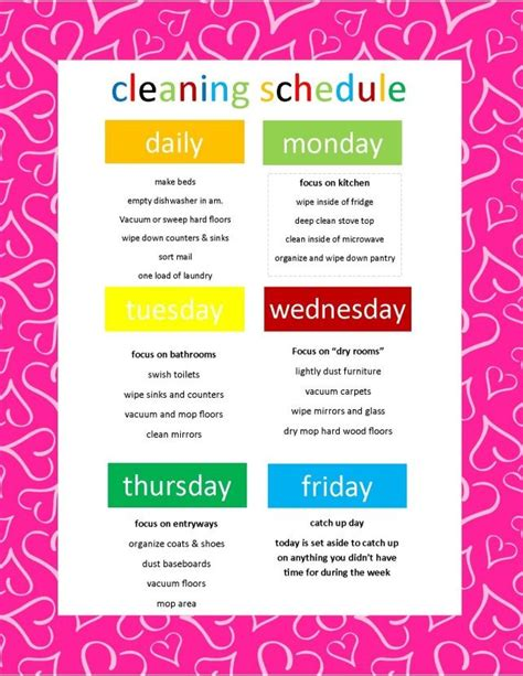how to keep a clean house schedule cleaning schedule i was actually challenged to write up a