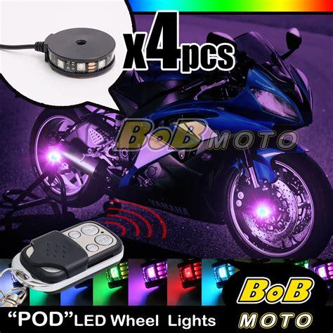 multi color lights with remote custom rgb multi color wireless remote wheel pod led light