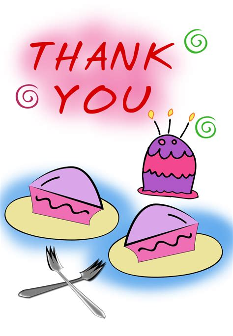 Birthday Thank You Card Template by Thank You Birthday Cake Free Thank You Card Template