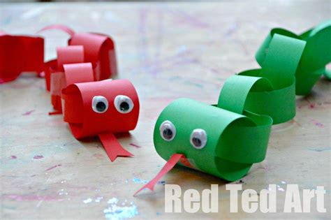 Paper Snake Craft - new year craft for year of the snake