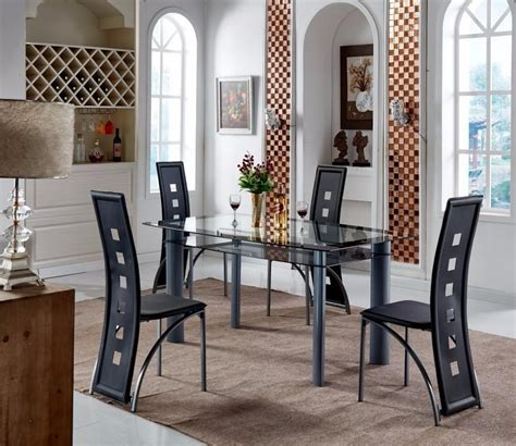 glass table six chairs dining tables and six chairs dining room ideas