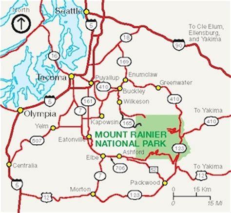 mt rainier national park map directions mount rainier national park u s national