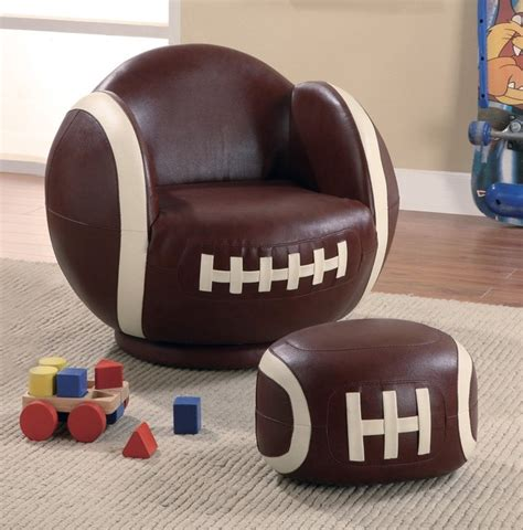 kids football chair and ottoman small football chair and ottoman eclectic kids chairs