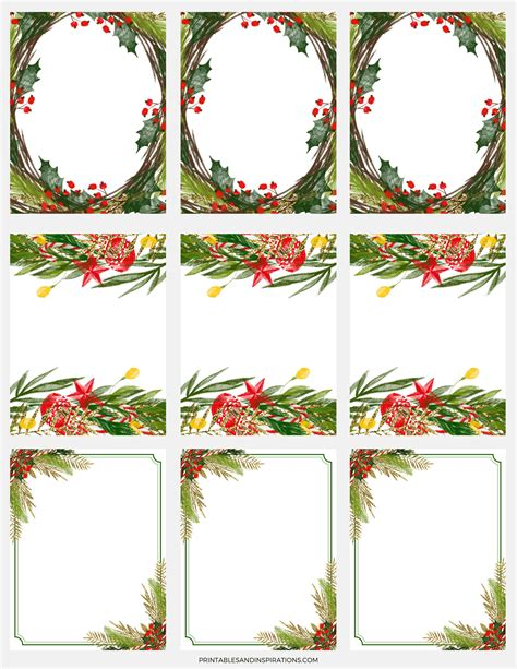 decorative borders for name tags free digital paper for christmas decorations gift tags