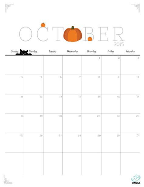 printable calendar october 2015 cute cute and crafty 2015 printable calendar