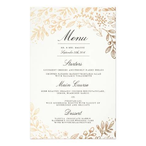 Wedding Anniversary Menu Ideas by Harvest Flowers Wedding Dinner Menu Zazzle