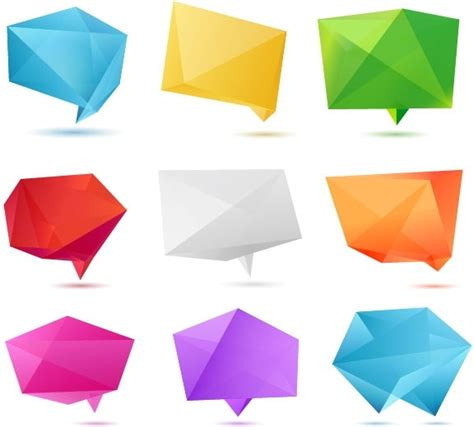 Origami Illustrator - color origami 01 vector free vector in adobe illustrator