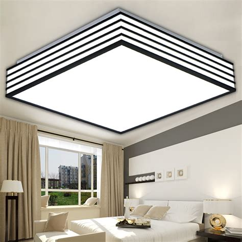 Square Modern Led Ceiling Lights Living Laras De Techo Led Bedroom Light Fixtures