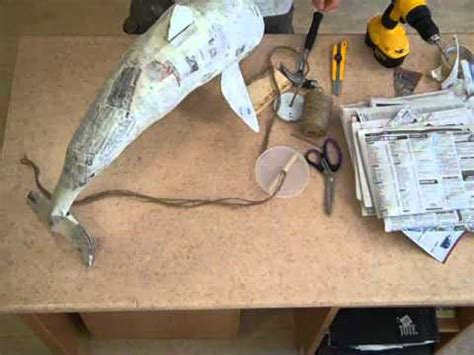 How To Make A Paper Mache Dolphin - dolphin pinata