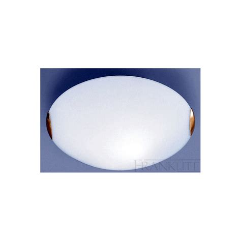 Flush Glass Ceiling Lights Cf5023el Flush Ceiling Light Opal Glass Brass