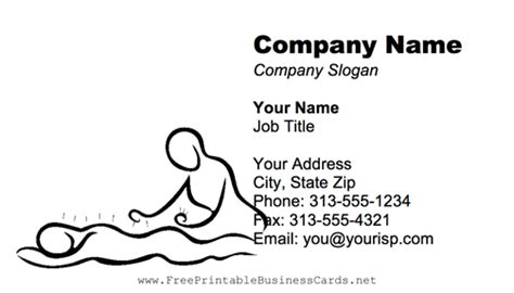 Acupuncture Blue Business Card Acupuncture Business Cards Templates