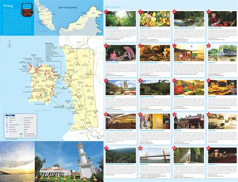 printable map georgetown penang penang tourist map