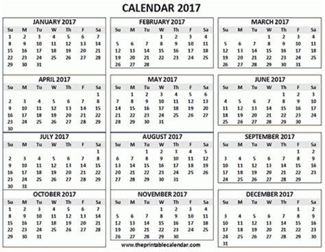 12 Month Calendar 2017 12 Month Printable Calendar 2017 Printable Calendar