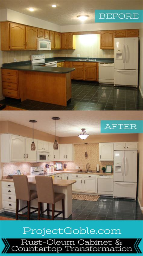 kitchen transformation cabinets painted counters